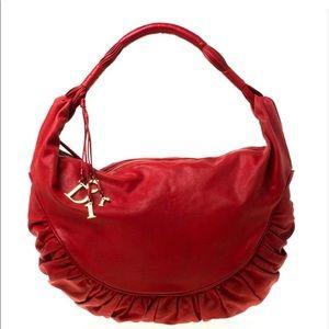 Dior ruched shoulder bag